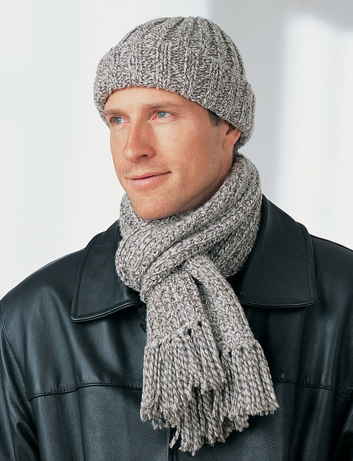 Mens Winter Hat and Scarf FaveCrafts.com