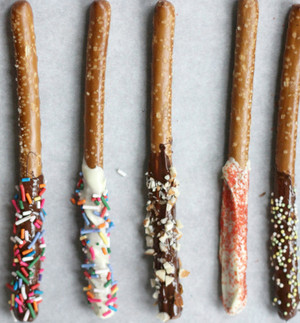 Sweet 'N Salty Chocolate-Dipped Pretzel Sticks