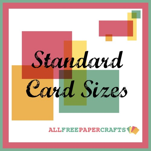 Standard Card Sizes