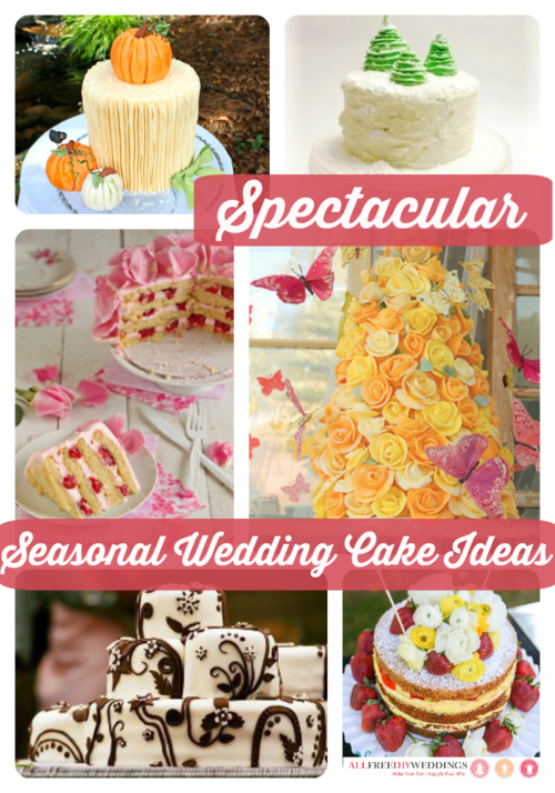 18 Spectacular Seasonal Wedding Cake Ideas