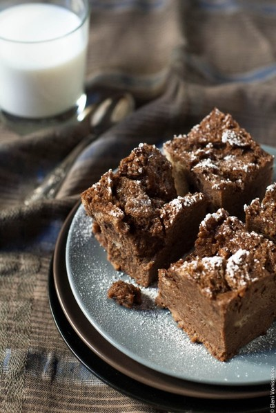 Chocolate-Cranberry Bread Pudding