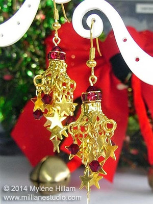 Starry Cluster Chandelier Earrings
