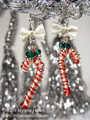 Whimsical Candy Cane Earrings