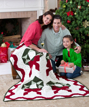 Christmas Wreath Throw