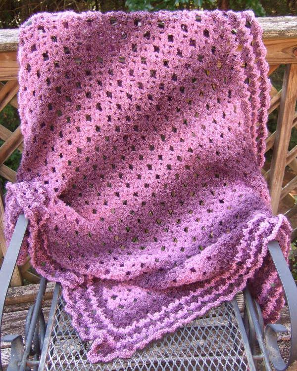 No Beginning Chain Diamond Lace Crochet Pattern ...