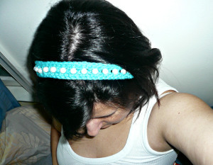 Ariel's Beaded Crochet Headband