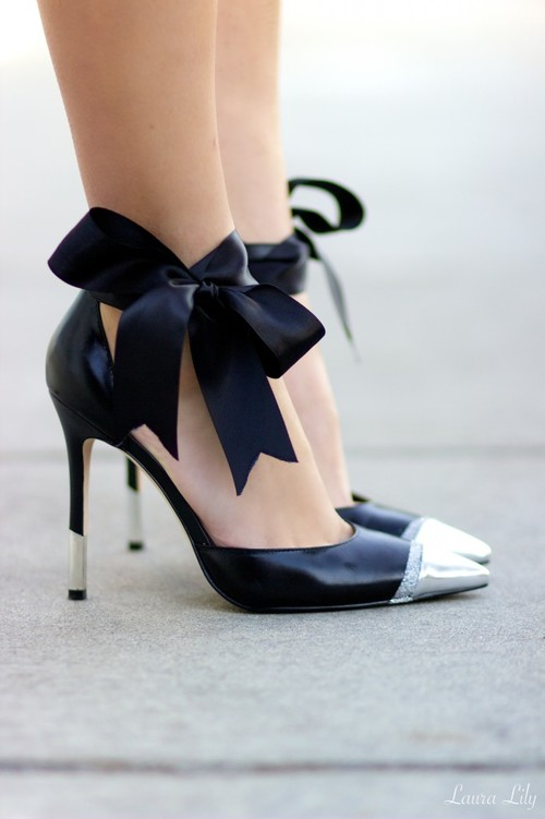 DIY Wedding Heels with Bow Accents