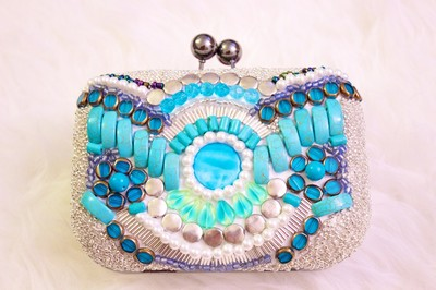 DIY Knockoff Beaded Emilio Pucci Clutch