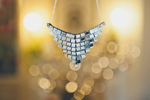 DIY Reflective and Festive Mirror Necklace