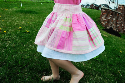 Kids Summer Plaid Skirt