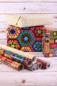 Lion Brand Artisan Gift Wrap
