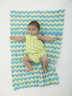 The Cutest Chevron Stroller Blankie