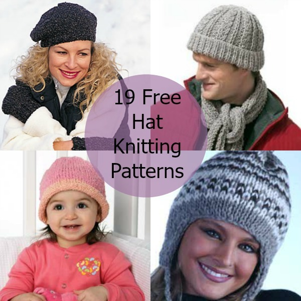 Hat Scarf Knitting Patterns Free : 19 Free Hat Knitting Patterns FaveCrafts.com