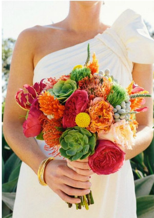 Exotically Vibrant DIY Bouquet