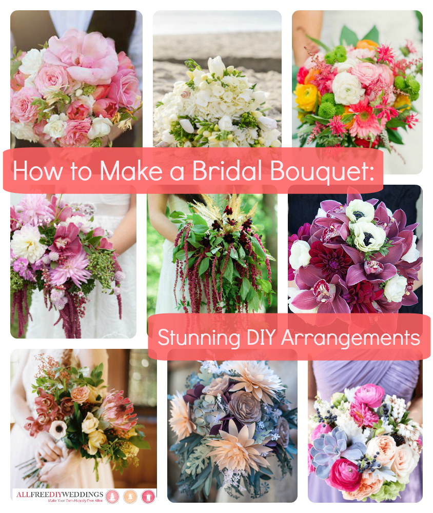 How to make a flower crown 14 beautiful floral hairpieces our collection how to make a bridal bouquet stunning diy arrangements will help you make the perfect bridal bouquet to match your diy flower crown dhlflorist Choice Image