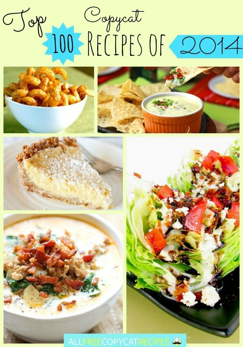 AllFreeCopycatRecipes.com Top 100 Copycat Recipes of 2014