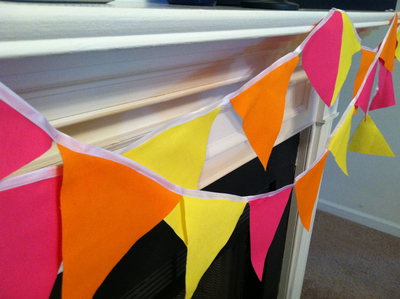 Colorful Fabric Pennant Banner