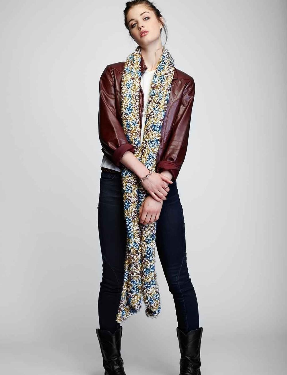 mindless mile crochet scarf allfreecrochet