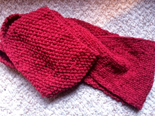 Free Knitting Pattern For Basket Weave Scarf : Reversible Basket Weave Infinity Scarf AllFreeKnitting.com