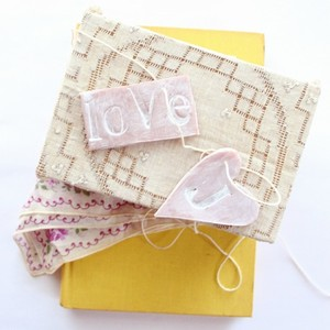 DIY Stamped Clay Heart