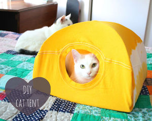No-Sew DIY Cat Bed