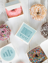 Donuts Over You Printable Valentine