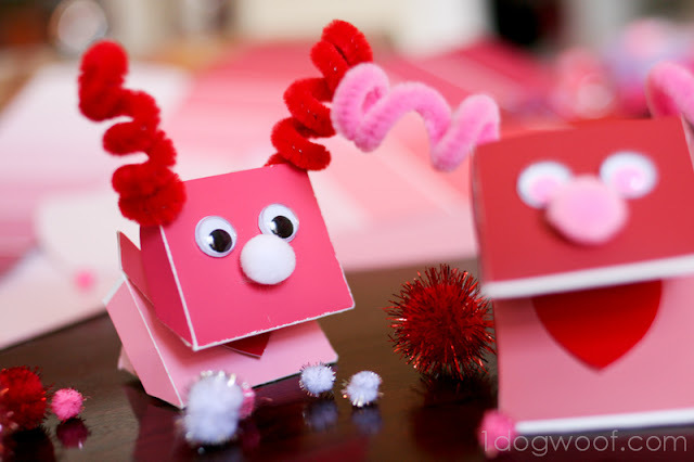 valentine paint chip monster puppet