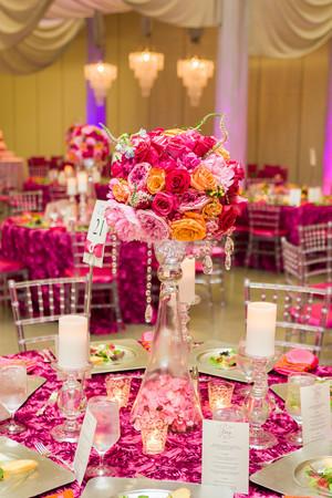 Bold and Beautiful Hot Pink Wedding  Inspiration