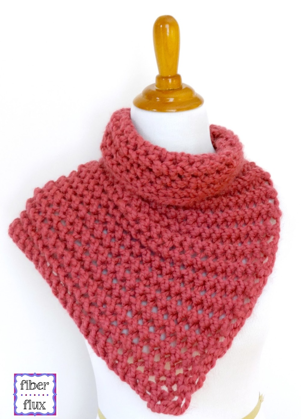 Raspberry Sorbet Button Cowl AllFreeKnitting.com