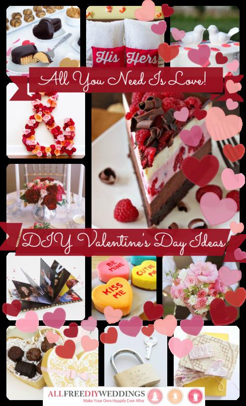 The Sweetheart Wedding: DIY Valentine's Day Ideas