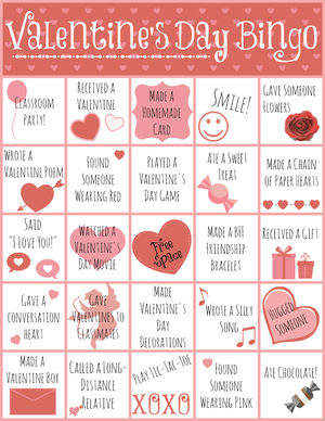 photograph regarding Printable Valentine Bingo Card titled Printable Valentines Working day Bingo