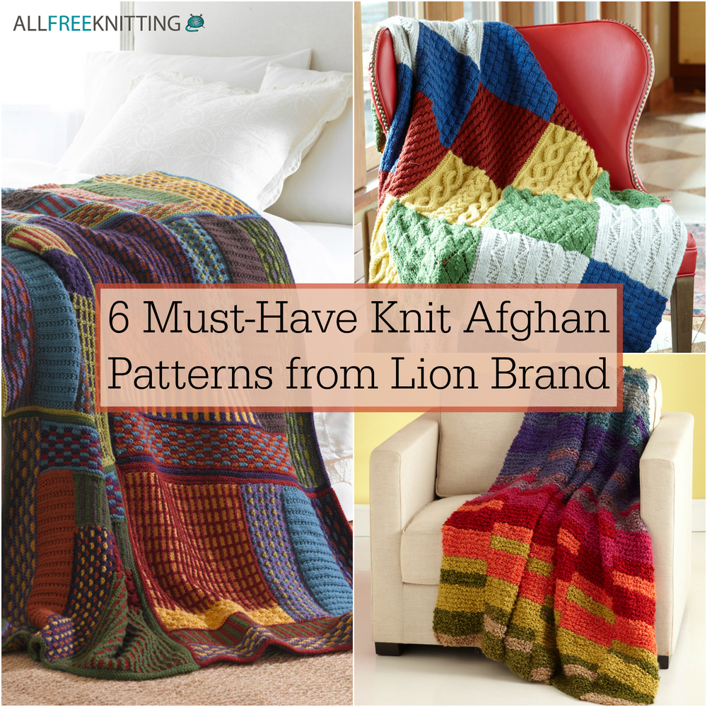 Slip Stitch Knitting Patterns For Beginners : 6 Must-Have Knit Afghan Patterns from Lion Brand AllFreeKnitting.com