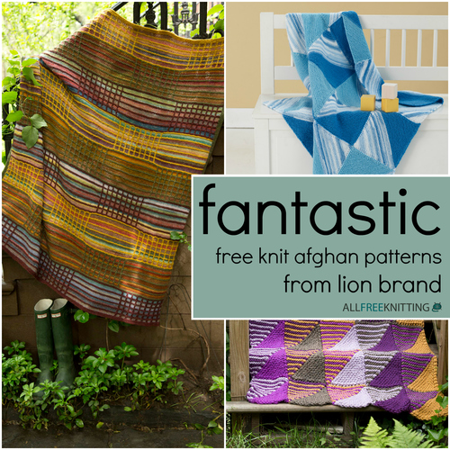 Fantastic Free Knit Afghan Patterns From Lion Brand