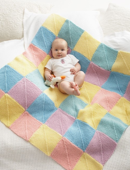 Baby Giggles Knit Afghan Pattern
