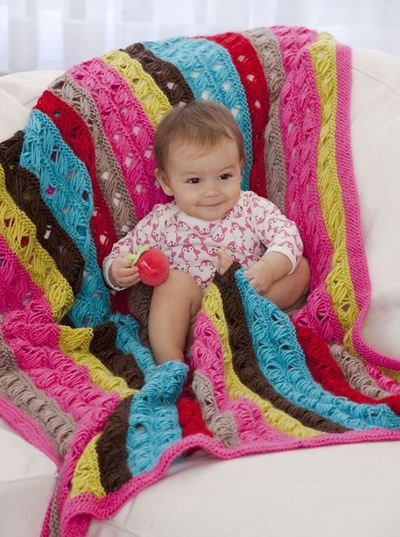 Ten Row Baby Afghan
