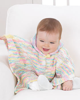 Baby Poncho Knitting Pattern