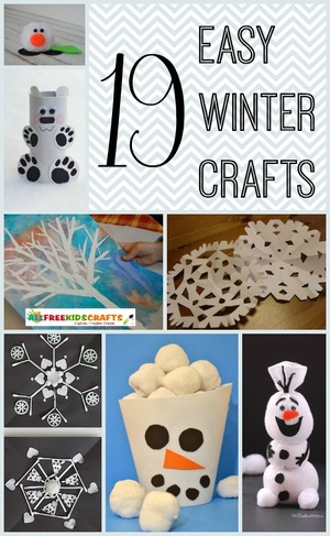 19 Easy Winter Crafts for Kids