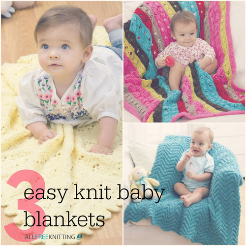 3 Easy Knit Baby Blankets