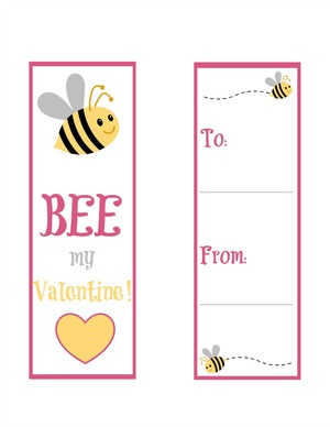Bee Mine Free Printable Bookmarks