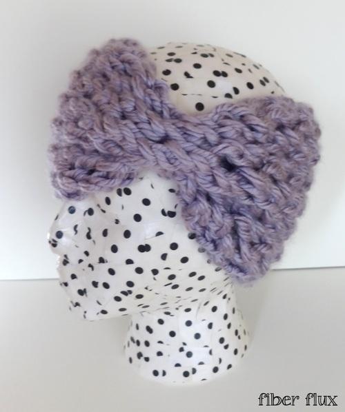 Knitting Patterns For Beginners Headband : Annabelle Lace Headband AllFreeKnitting.com