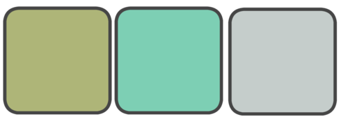 Sage, Light Teal, Grey