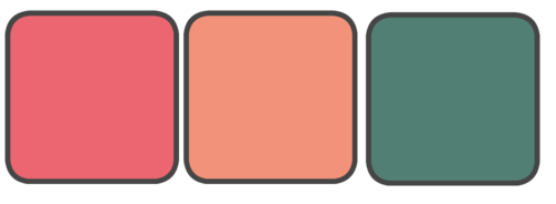 Dark Coral, Light Coral, Green