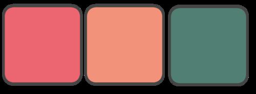 Dark Coral, Light Coral, Green
