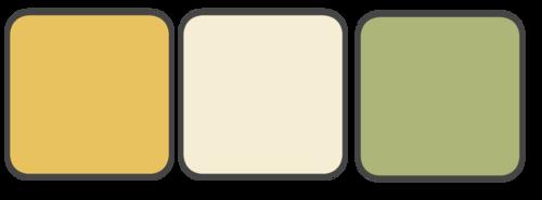 Gold, Beige, Sage