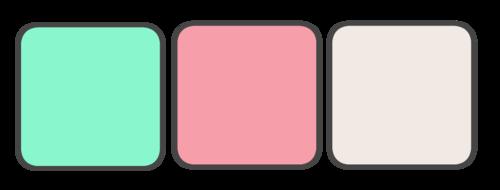 Mint, Pink, Cream