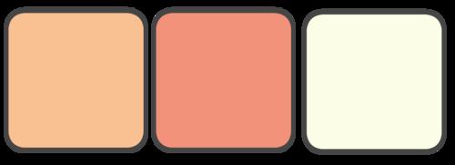 Peach, Coral, Cream