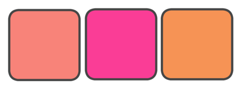 Pink, Coral, and Orange