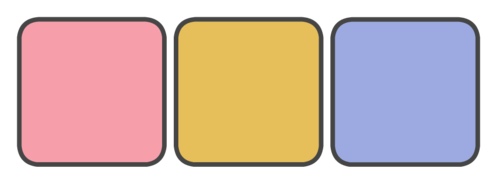 Pink, Gold, Placid Blue