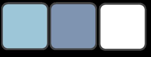 Periwinkle, Light Blue, White