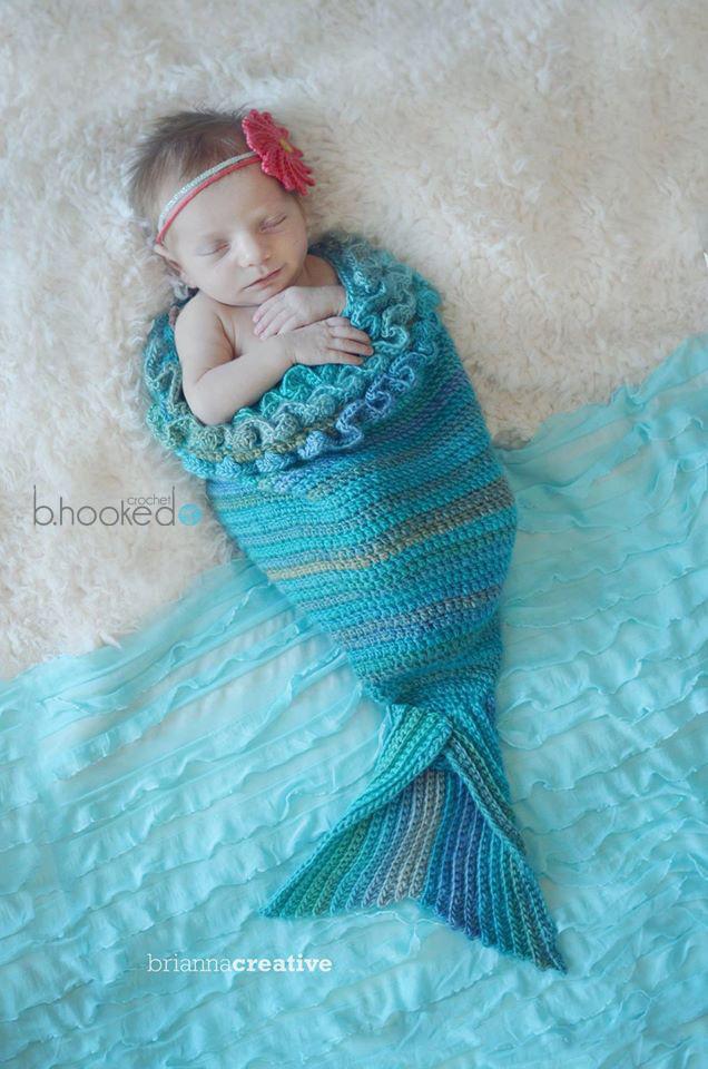 Crochet Flower Cocoon Pattern Free : Mystic Mermaid Cocoon AllFreeCrochet.com